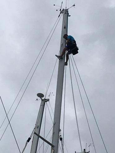 Rigger i toppen av masten